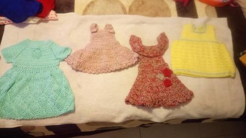 lote vestidos tejidos para bebe