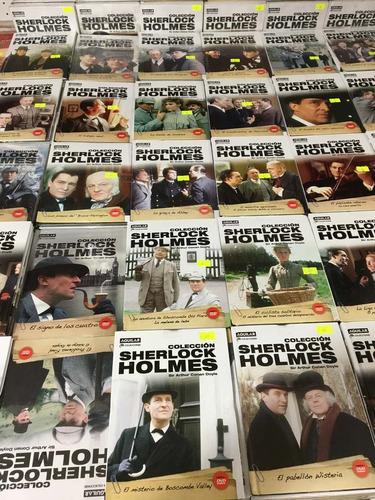 lote x 10 sherlock holmes la serie libro + dvd nuevo