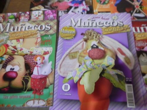 lote x 15 revistas muñecos country y juguetes tela palermo e