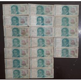 Lote X 19 Billetes Australes.regular Estado L10