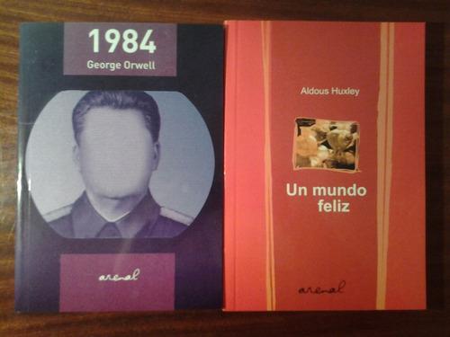 lote x 2 1984 + un mundo feliz orwell - huxley nuevos