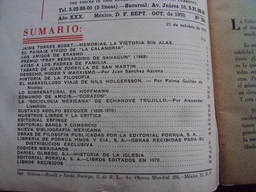 lote x 2 boletin bibliografia mexicano 1970 libreria porrua
