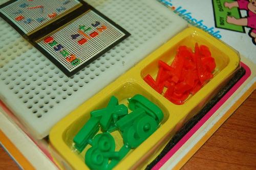 lote x 2 juguetes didácticos con números creative fun 1970s