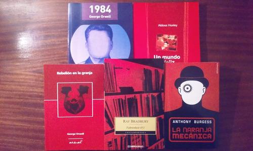 lote x 2 libros 1984 + fahrenheit 451 g. orwell r. bradbury