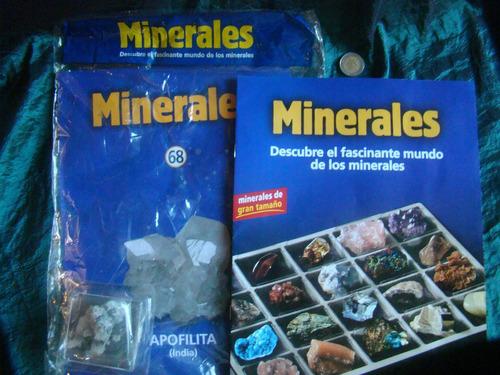 lote x 20 fasciculos colección minerales