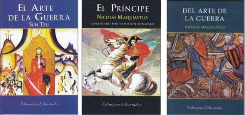 lote x 3 libros estrategia el arte de la guerra el principe