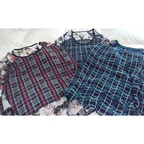 3703b740a Lote X 3 Remeras De Vestir - Moda Mujer-oferta!!!