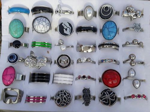lote x 36 anillos de acero quirúrgico !!!! imperdibles !!!