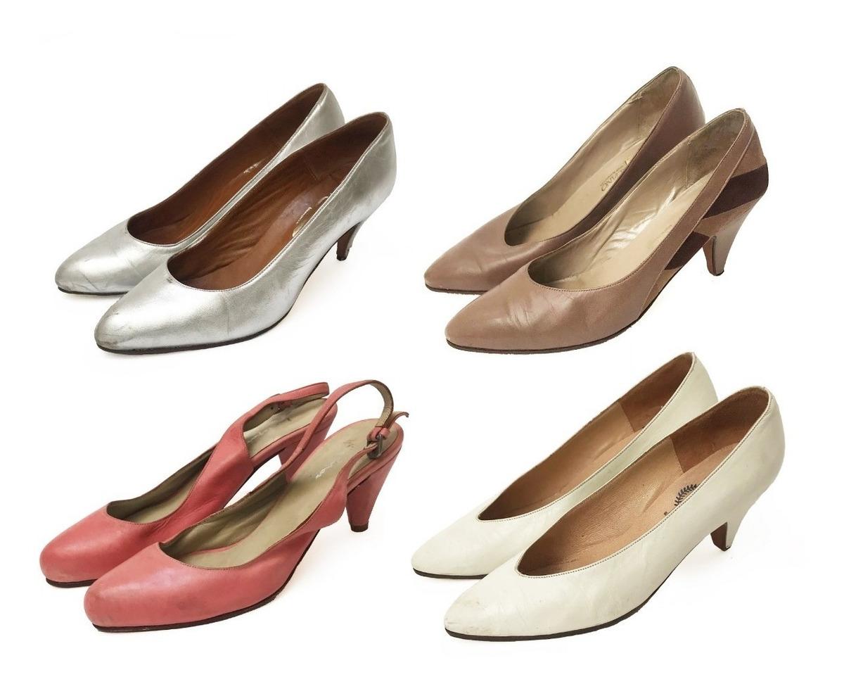 zapatos deportivos 0b041 ee997 Lote X 4 Zapatos Vintage Vestuario Teatro Años 60 Nro. 37 - $ 1.500,00