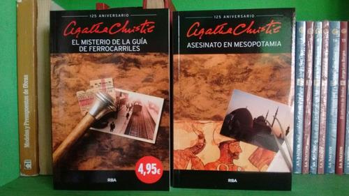 lote x 5 libros agatha christie