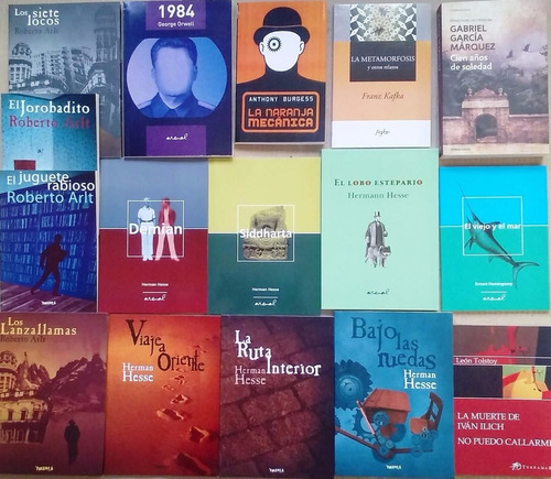 lote x 5 libros autores clasicos hesse orwell kafka y otros