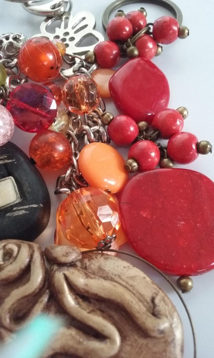 f510d88a918f Cargando zoom... lote x 5 llaveros - artesanales - con piedras - bijouterie