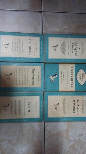 lote x 6 pelican books - islam romans hittites aztecs greek
