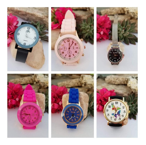 lote x 6 relojes hombre / mujer