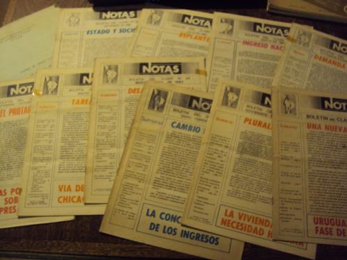 lote x10 boletin del claeh + ficha siglo xx america latina