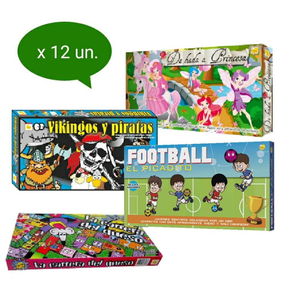 Lote X12 Juegos De Mesa Infantiles X Mayor Souvenir 690 00 En