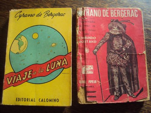 lote x2 cyrano de bergerac viaje a luna tragicomedia rostand