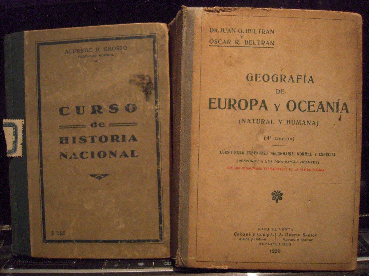 Lote X2 Libros Antiguos Historia Geografiatapas Duras1920 445