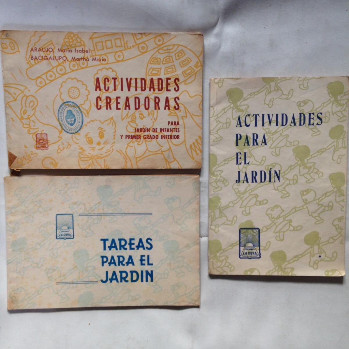 Lote X3 Actividades Jardin Colorear Dibujo La Obra - $ 525,00 en ...
