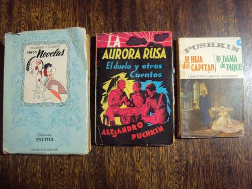 lote x3 pushkin novelas aurora rusa duelo cuentos dama hija