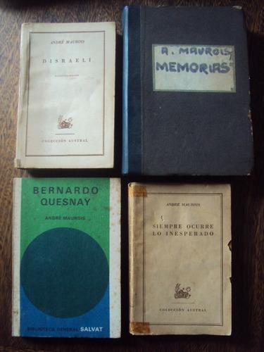 lote x4 andre maurois disraeli quesnay memorias inesperado