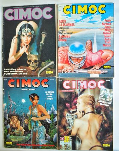lote x4 revista cimoc n 101 141 153 159 comic ed norma