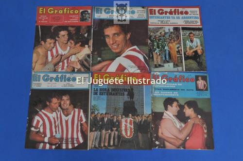 lote x6 el grafico estudiantes la plata 1968 bilardo futbol