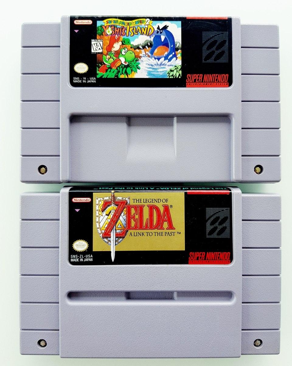 Lote Yoshi's Island + Zelda Snes Originais