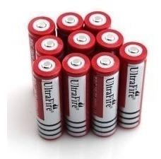 (lote10pç)bateria recarregavel 18650/7800mah/ 3.7v/pilha