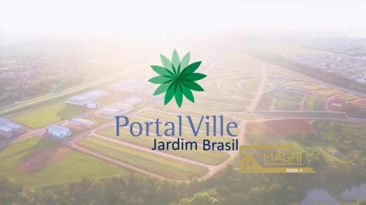 loteamento aberto 200 m² - portal ville jardim brasil - pronto para construir - te00017 - 34475923