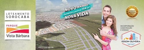 loteamento parque vista bárbara sorocaba sp - lotes de 154 m - t-063