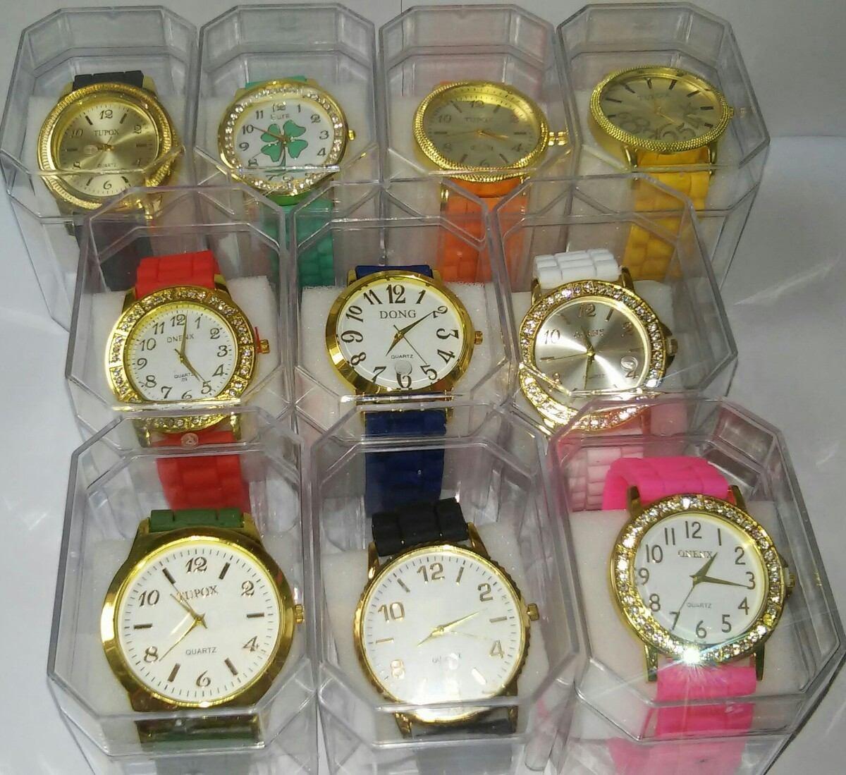 6ea38e0f75b lote kit 10 relógio feminino silicone+caixa atacado revenda. Carregando  zoom.