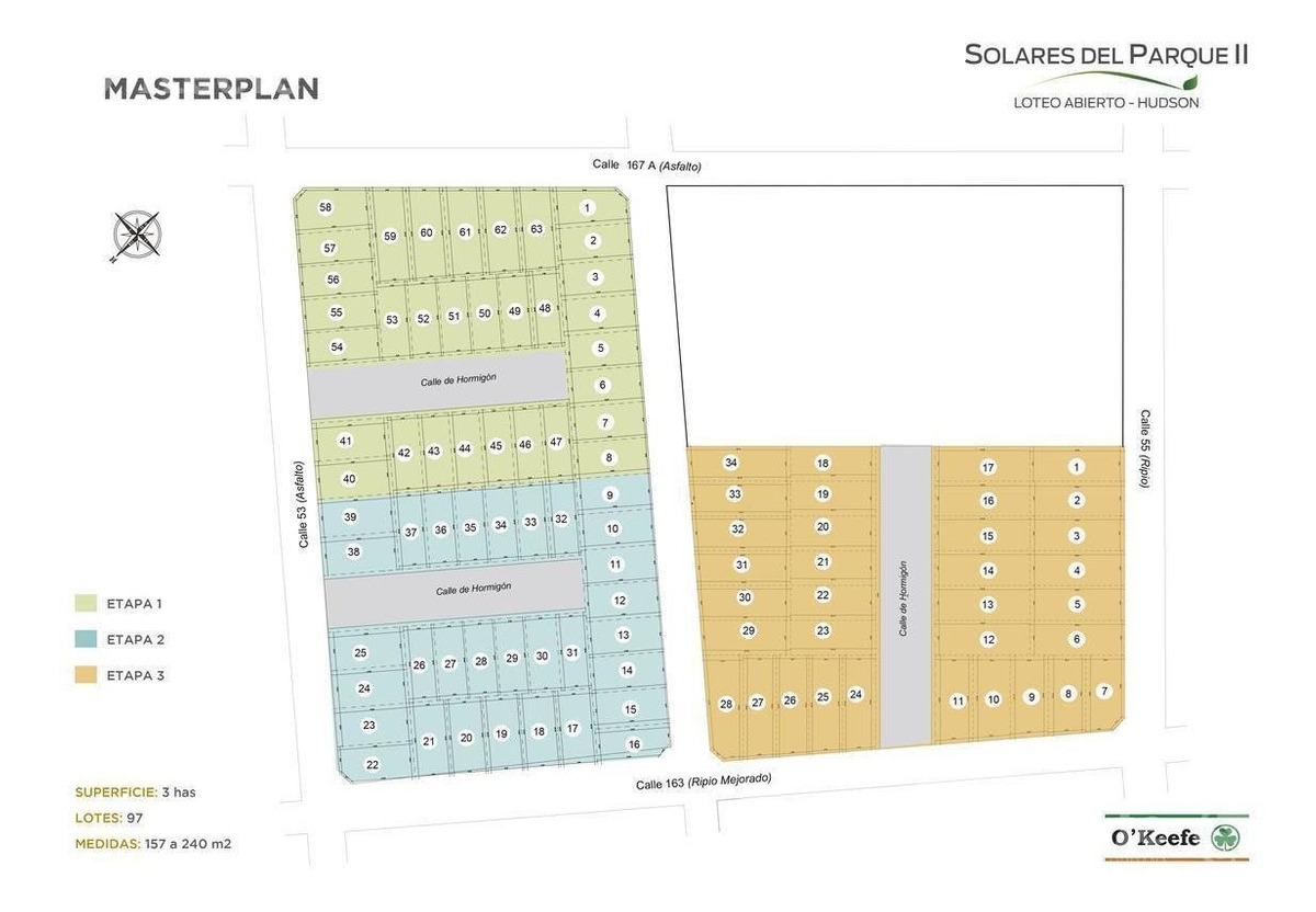 loteo abierto solares del parque ii - calle 53 y 163