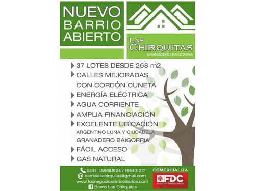 loteo las chirquitas - barrio abierto granadero baigorria - promoción
