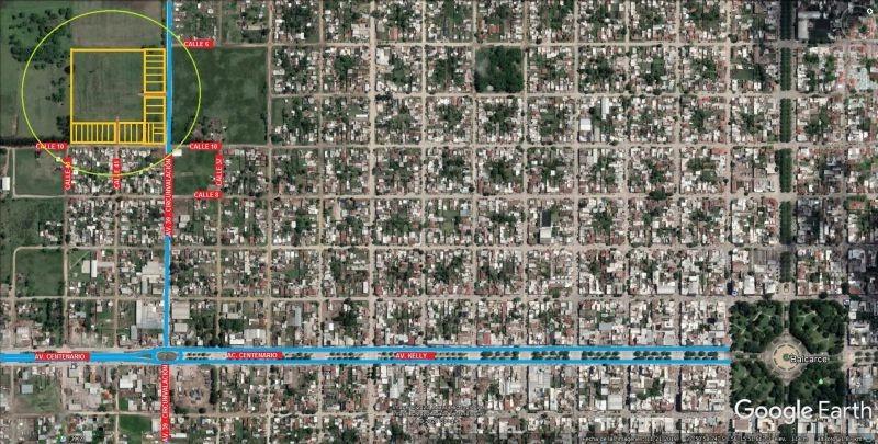 loteo s/calle 10 a metros av. circunvalación - m/b. medidas