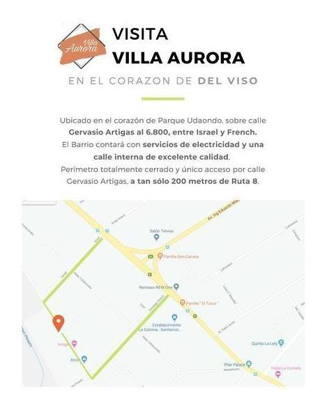 loteo  sin anticipo - villa aurora - lotes de 230 m² - del viso - jose c paz