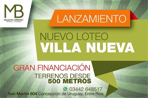 loteo villa nueva - terrenos desde 500 m2