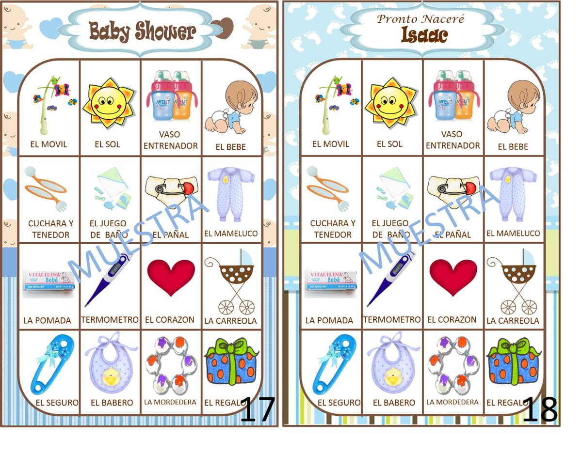 Loteria De Baby Shower Baby Shower Ideas