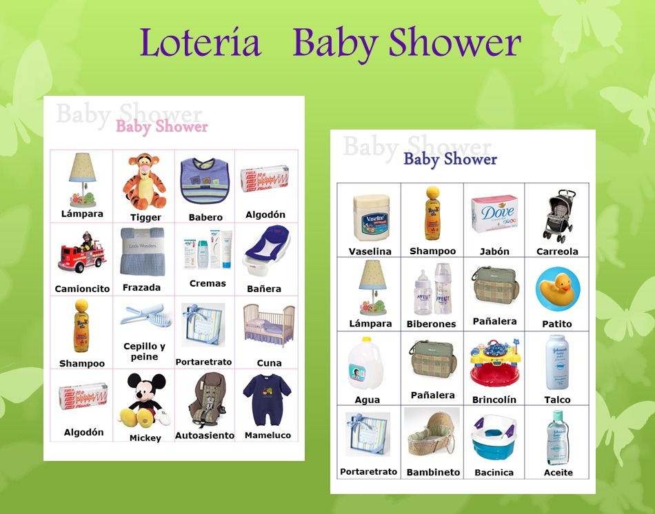 Loteria Baby Shower Imprimible - $ 49.00 en Mercado Libre