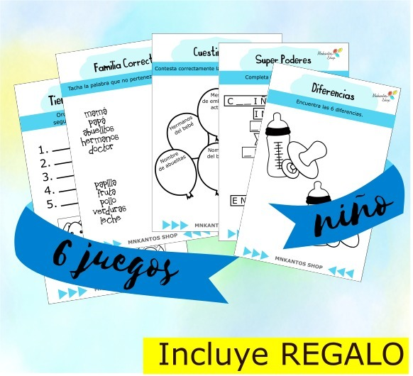 Loteria Baby Shower Niño 100 Tablas Kit Imprimible - $ 260.00 en ...