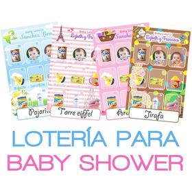 Loteria Baby Shower Personalizada, Juegos, Invitaciones
