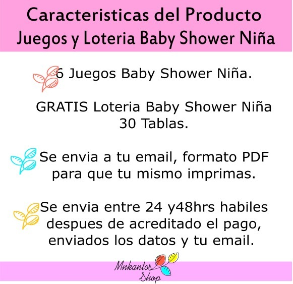 Loteria De Baby Shower: Loteria Baby Shower Y Juegos Baby Shower Kit Imprimible