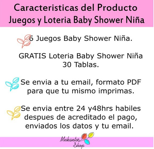 loteria baby shower y juegos baby shower kit imprimible