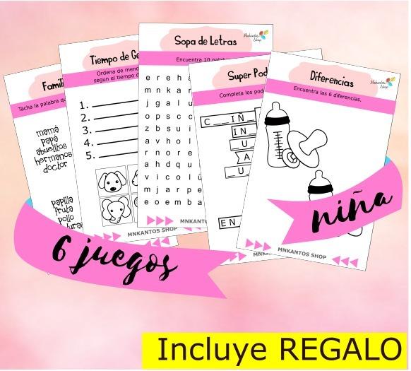 Loteria Baby Shower Y Juegos Baby Shower Kit Imprimible 85 00 En