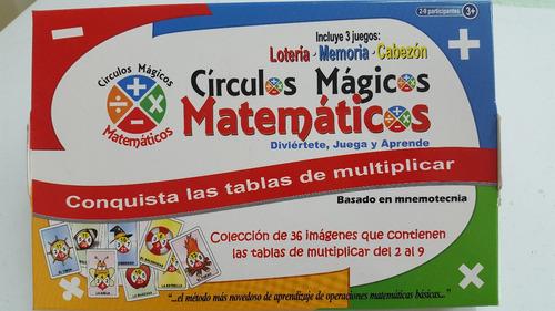 lotería de tablas - círculos mágicos matemáticos