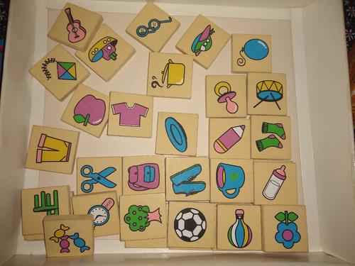 lotería figuras gordillo - fichas de madera
