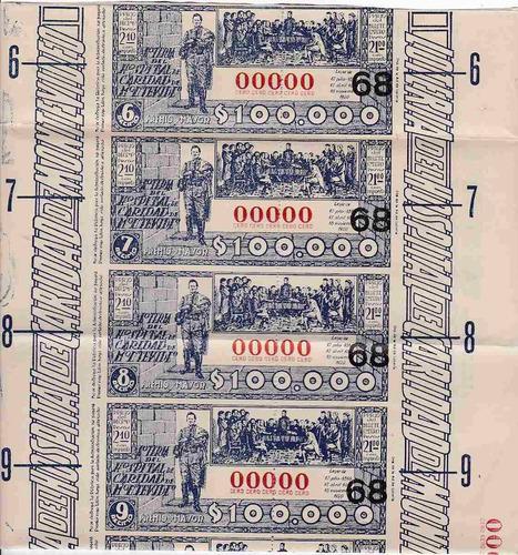 loteria hospital de caridad 1950 nº 00000