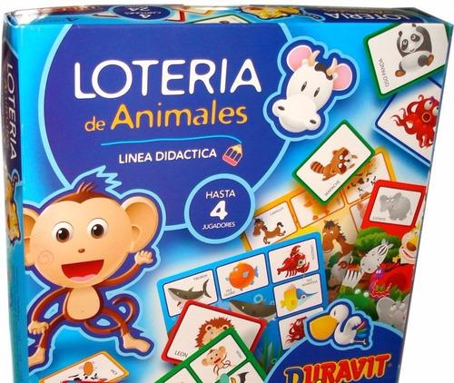 loteria infantil duravit de animales planeta juguete