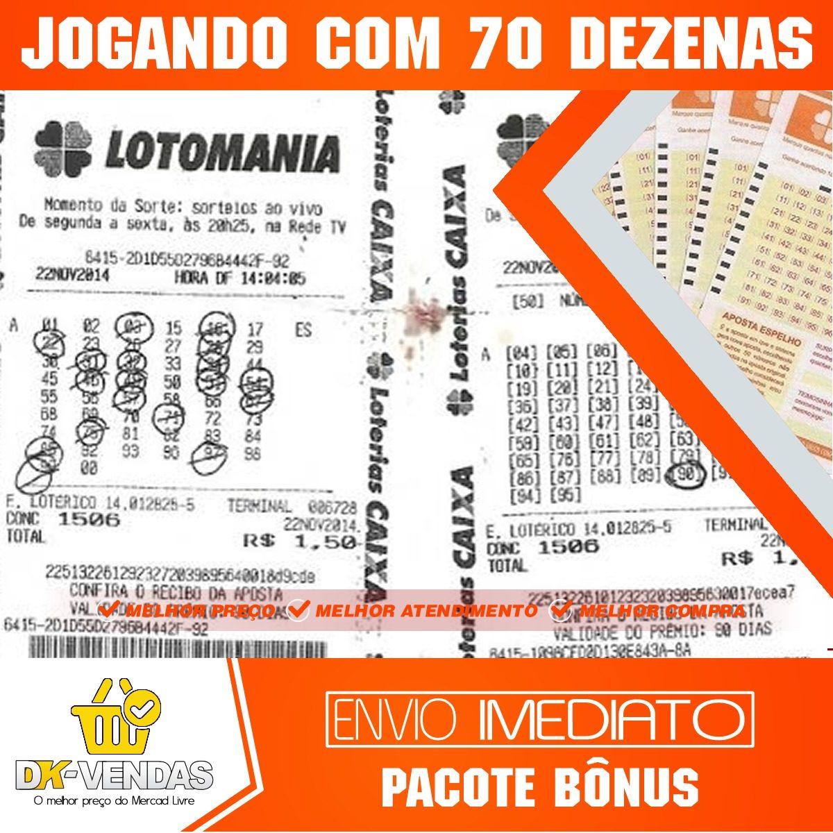 1579b32e3d2fc Loteria Lotomania - Aposte 70 Dezenas Em Apenas 8 Jogos - R  7