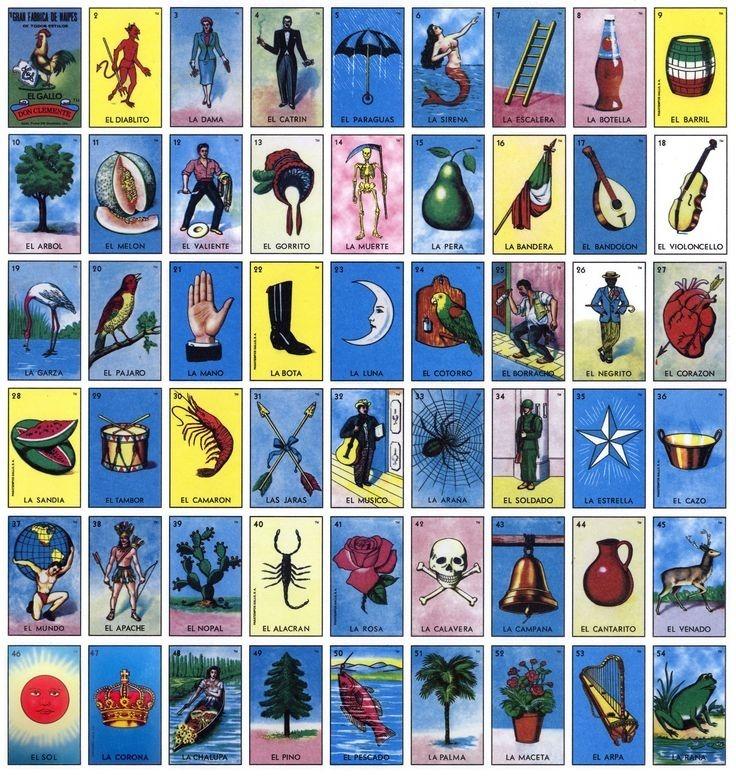 Loteria Mexicana **imprimible** Archivo 50 Tablas 4x4 O 5x5 ...